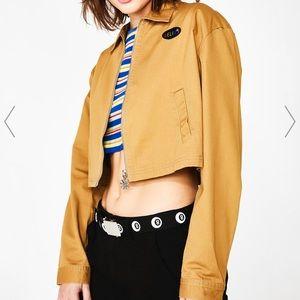 Delia's cropped tan cargo jacket NWT